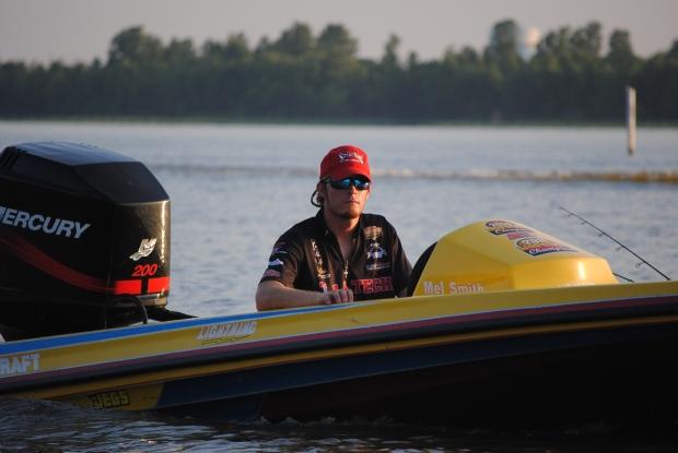 Peyton in boat