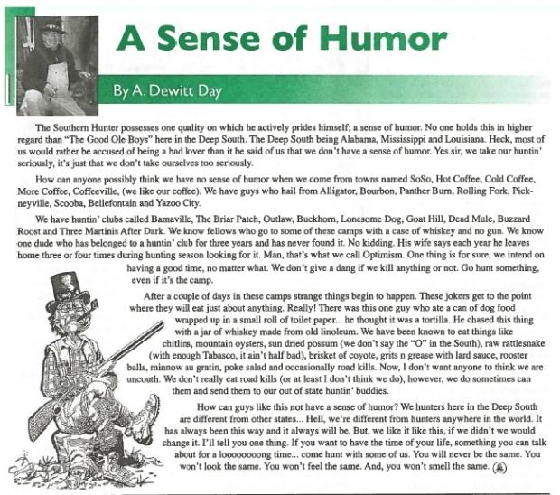 A Sense of Humor (2)