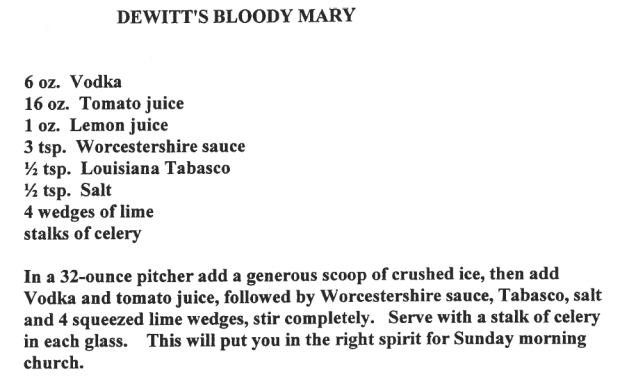 Dewitt's Bloody Mary