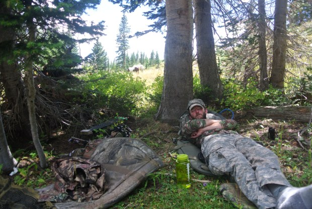 Midday nap before a brutal journey with the horses back to camp.  We got back 3 hours after dark.